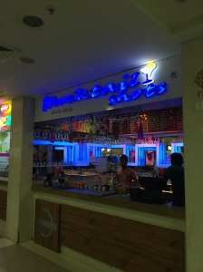 Gujarat is a dry state - no alcohol allowed. This is the closest thing I've seen to a bar and it's in the mall food court!