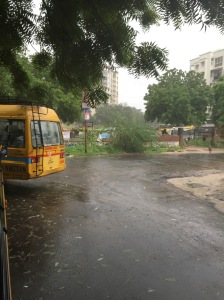 The rainy streets of Ahmedabad