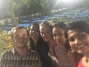 Max, Annushka, me, Vedanti, and Akkansha after the Farewell program