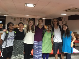 Us with Maithilee, one of the amazing AFS volunteers.